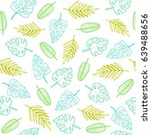 simple outline leafs. vector...   Shutterstock .eps vector #639488656