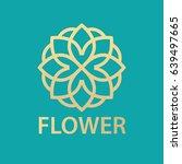 logo and sign flower store ... | Shutterstock .eps vector #639497665