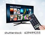 video on demand vod application ... | Shutterstock . vector #639499255