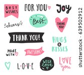 set of text labels. vector hand ... | Shutterstock .eps vector #639502912