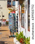 Small photo of Playa Blanca, Lanzarote, 04 April, 2017: Promenade in Marina Rubicon in Playa Blanca, Lanzarote, Canary Island, Spain