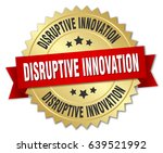 disruptive innovation round... | Shutterstock .eps vector #639521992