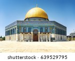 famous dome of the rock by day... | Shutterstock . vector #639529795