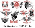 born to ride. set of the... | Shutterstock .eps vector #639536146