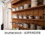 collection of vintage saucepans ... | Shutterstock . vector #639540358