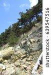 rocky landscape  green trees...   Shutterstock . vector #639547516