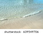 wave of the clear blue ocean on ... | Shutterstock . vector #639549706