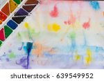 multicolored watercolors on a... | Shutterstock . vector #639549952