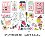 summer lettering and elements... | Shutterstock .eps vector #639553162