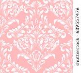 vector damask seamless pattern... | Shutterstock .eps vector #639557476