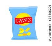 packing of potato chips.... | Shutterstock .eps vector #639566206