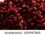 garnet berries  close up.garnet ... | Shutterstock . vector #639567865