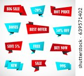 vector stickers  price tag ... | Shutterstock .eps vector #639571402