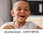cute african american boy...   Shutterstock . vector #639578956