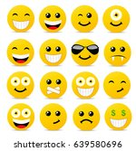 modern yellow laughing happy... | Shutterstock .eps vector #639580696
