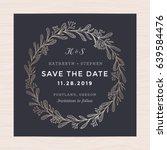 elegant floral wreath wedding... | Shutterstock .eps vector #639584476