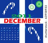 Raster version Illustration of 2011 Calendar with a monthly, I have all 12 months designed separately or all 12 months in a single design. - stock photo