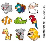 cartoon animal | Shutterstock .eps vector #63959011