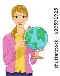 illustration of a girl teaching ... | Shutterstock .eps vector #639591925