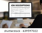 job descriptions human... | Shutterstock . vector #639597022