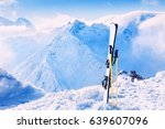 winter mountains and ski... | Shutterstock . vector #639607096