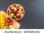 mixed fresh fruits  strawberry  ... | Shutterstock . vector #639608146