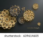 paper graphic of islamic... | Shutterstock .eps vector #639614605