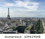 view from arc de triomphe to... | Shutterstock . vector #639619048