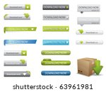 website download buttons | Shutterstock .eps vector #63961981