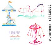 illustration with watercolor... | Shutterstock . vector #639625312
