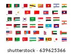 flags of asia continent with... | Shutterstock .eps vector #639625366