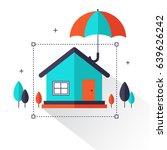 home insurance info graphic....   Shutterstock .eps vector #639626242