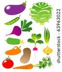 vegetables icon set | Shutterstock .eps vector #63963022