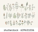 set of sketchy hand drawn... | Shutterstock .eps vector #639631036
