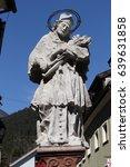 historical st. nepomuk statue ...   Shutterstock . vector #639631858