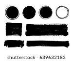 set of vector hand painted... | Shutterstock .eps vector #639632182