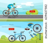 sports cycle races concept.... | Shutterstock .eps vector #639637582