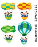 balloon and employee trip | Shutterstock . vector #639642112