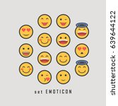 good feeling emoticon set. | Shutterstock .eps vector #639644122