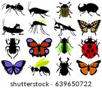 set of insects | Shutterstock .eps vector #639650722