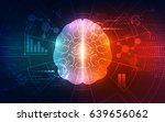 vector abstract human brain on... | Shutterstock .eps vector #639656062
