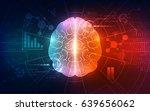 vector abstract human brain on... | Shutterstock .eps vector #639656062