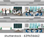 office with workstation ... | Shutterstock .eps vector #639656662