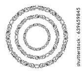vintage baroque victorian round ... | Shutterstock .eps vector #639659845