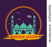 happy ramadan kareem festival... | Shutterstock .eps vector #639663406