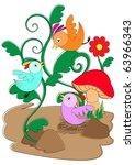 three little birds | Shutterstock .eps vector #63966343
