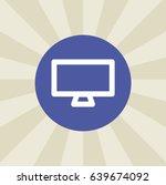 monitor icon. sign design....