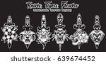 traditional tattoo designs... | Shutterstock .eps vector #639674452