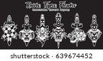 traditional tattoo designs... | Shutterstock .eps vector #639674452