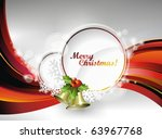 vector christmas illustration... | Shutterstock .eps vector #63967768
